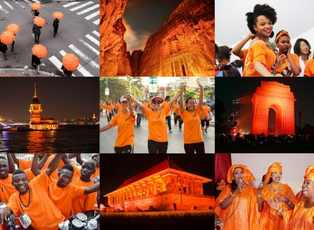 An orange world against gender-based violence